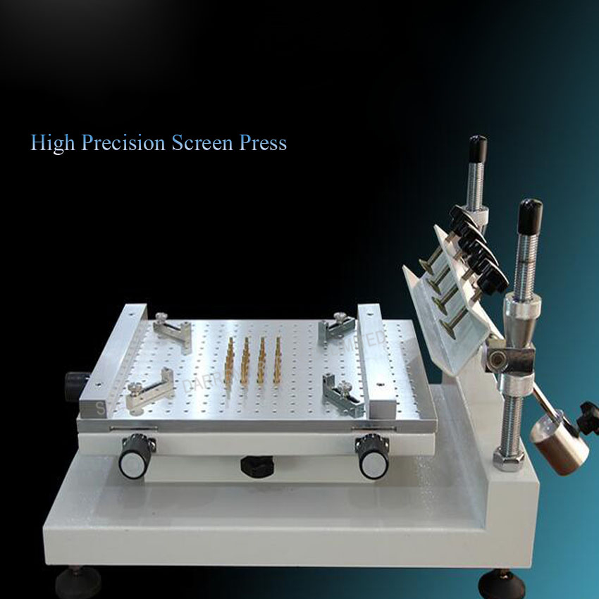 1PC High precision screen printing machines Solder paste SMT printing manual printing and screen printing machine