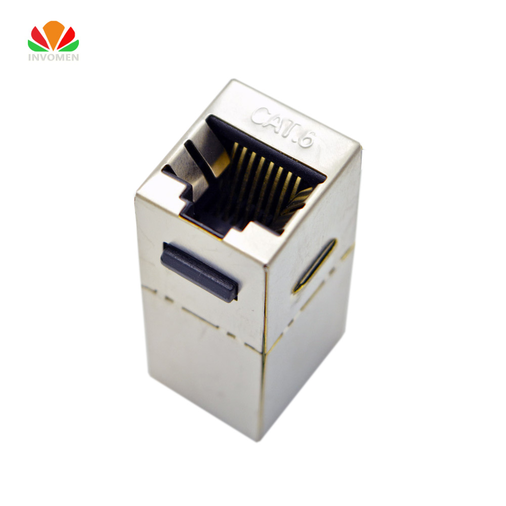 Hot Sale Ftp Cat6 Straight Through Module Shielded Rj45 Connector Plug Wiring Information Socket Ethernet Coupler Network Cable Adapter Keystone Jack
