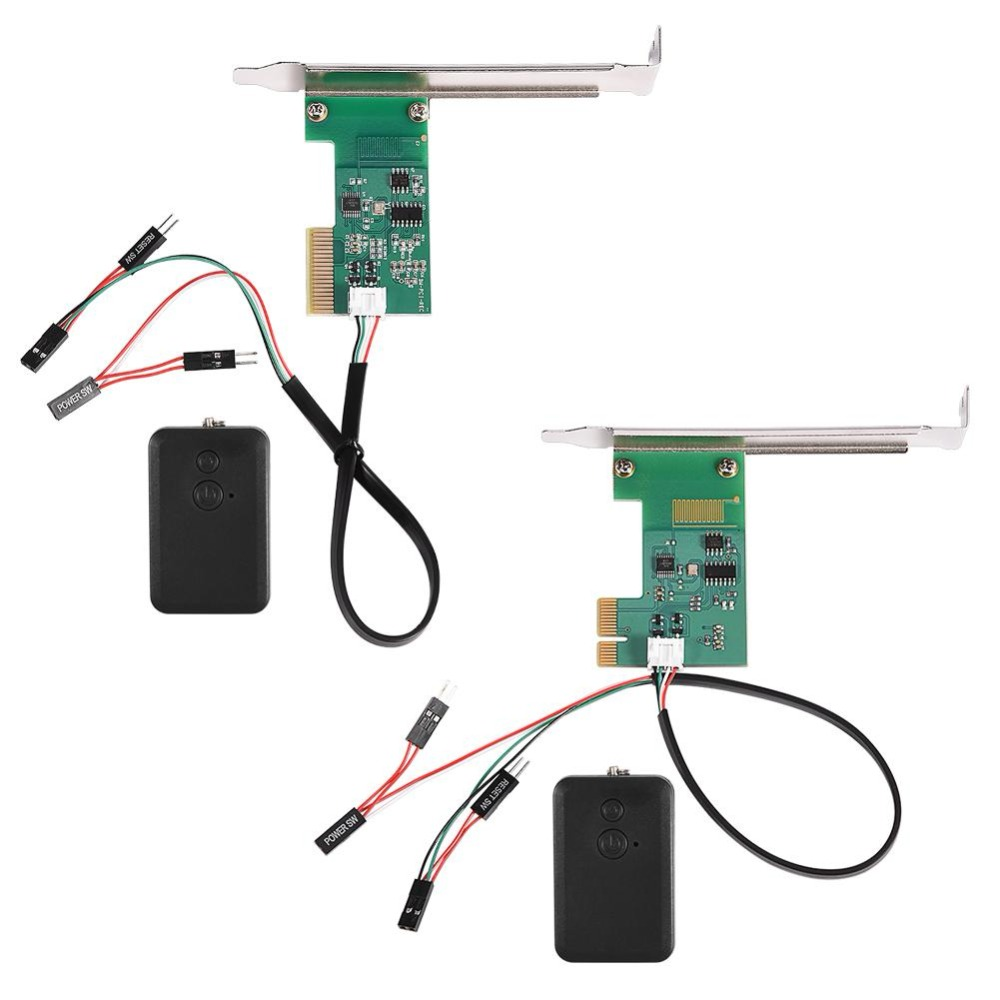 Беспроводной настольный компьютер переключатель мини настольный ПК Пульт дистанционного управления в пределах 20 м беспроводной перезапус...