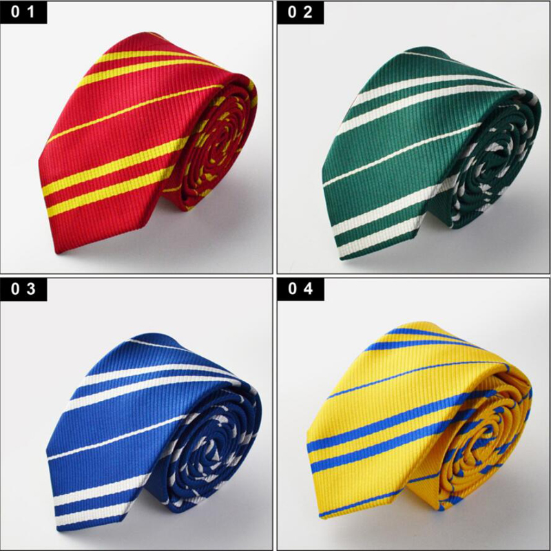 wholesale 4pcs/lot four styles Harri Potter Gryffindor Series Tie Clothing Accessories College Style Tie Gift Costume Accessory