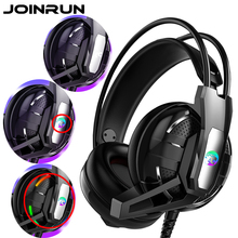 Joinrun หูฟังสเตอริโอชุดหูฟังอินเทอร์เน็ตคาเฟ่หูฟังไมโครโฟนสำหรับโทรศัพท์มือถือ PC เกม