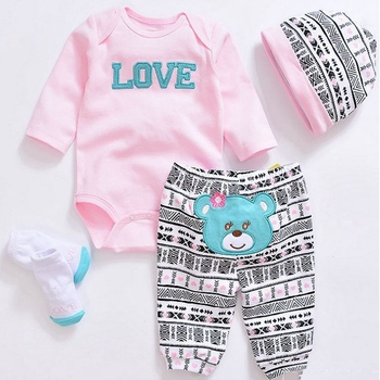 Handmade 1 Sets Silicone Reborn Baby Doll Accessories Fashion Clothes Suitable For 22 Inch 50-55cm Reborn Doll Kids Gift warkings reborn
