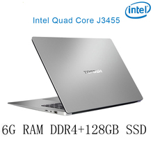 P2-09 6G RAM 128G SSD Intel Celeron J3455 Gaming laptop notebook computer keyboard and OS language available for choose