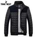 TANGNEST Slim Fit Patchwork 2017 New Arrival Korean Style Parka Men's Coat Hot Selling Fashional Male Warm Winter Jackets 699