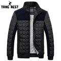Tangnest slim fit patchwork 2017 nueva llegada estilo coreano parka capa de los hombres de fashional venta caliente chaquetas de invierno cálido masculino 699