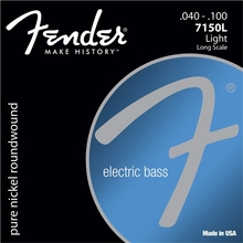 Fender 7150's Pure Nickel Roundwound Long Scale Electric Bass Guitar Strings – 7150XL 7150L 7150ML 7150M