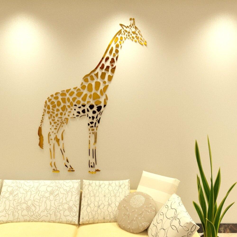 Muursticker Giraffe Kinderkamer.Giraffe Acryl 3d Muurstickers Voor Kinderkamer Woonkamer Giraffe