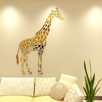 New Arrival 3D Acrylic Wall Stickers Living Room Giraffe Mirror Wall Sticker Children S Room Bedroom