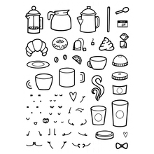 coffee with character Transparent Clear Silicone Stamp/Seal for DIY scrapbooking/photo album Decorative clear stamp