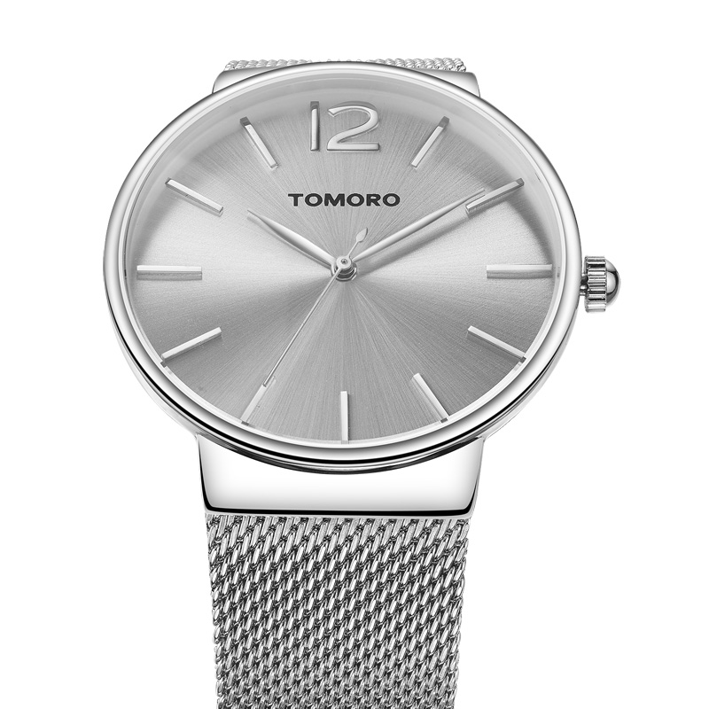 TOMORO Unisex Women's Metal Retro Casual Minimalist Mesh Strap Quartz Analog Wrist Watch 0816WE