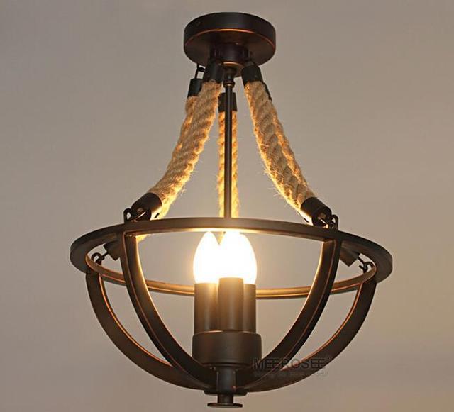 Hanglamp Met Touw.Amerika Stijl Hanglamp Fitting Touw Opknoping Eetkamer Restaurant