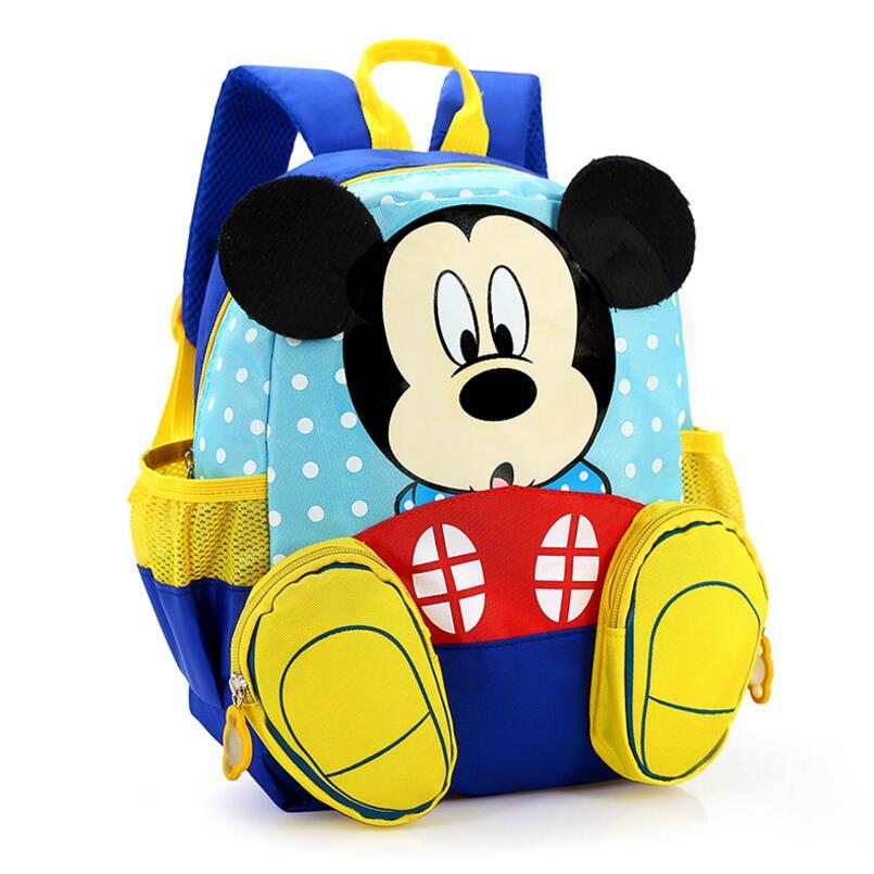 2018 Mickey School Bag Minnie Kids Bag Children Backpack Kindergarten Backpack/kid School Bags/Satchel for Boys Girls