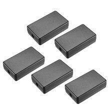 Uxcell Электронный пластиковый ABS DIY распределительный проект коробка корпус Чехол черный 40x20x10,5 мм/60x36x17 мм 5 шт./лот