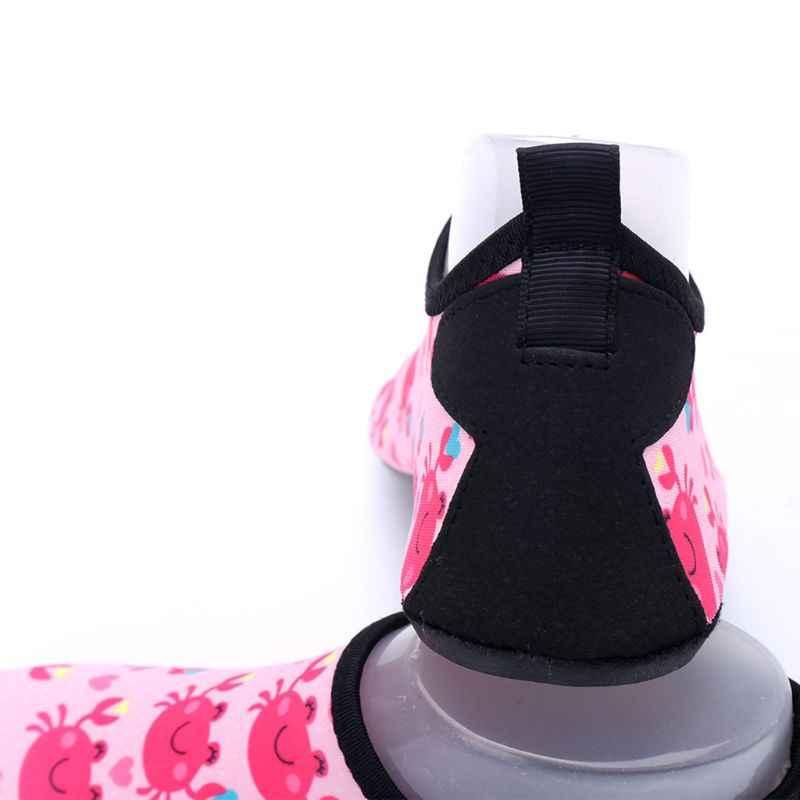 Дети Плавание водонепроницаемая обувь для маленьких детей, быстро сохнет, Non-Slip стильная футболка с изображением персонажей видеоигр краб с принтом акулы босиком Аква носки для пляжа, бассейна