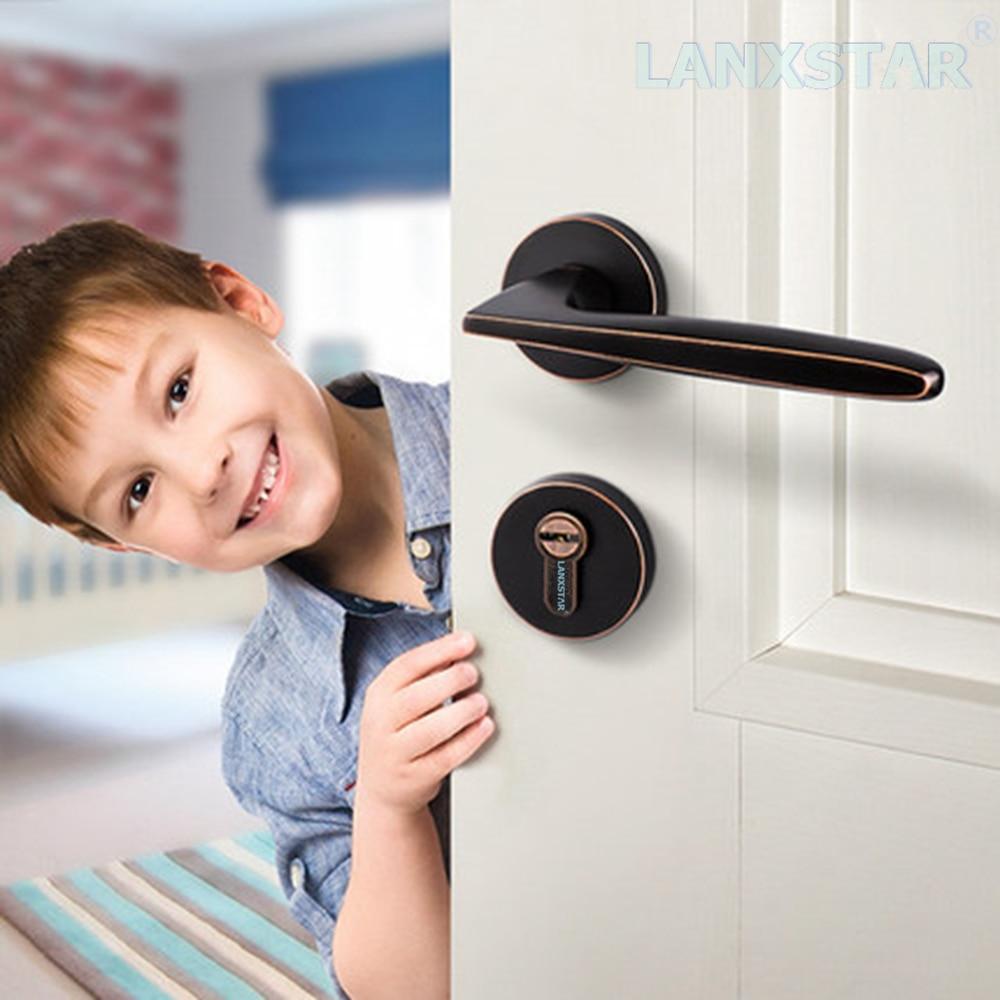 Luxury American Style Simple Split lock Indoor Bedroom Door Locks Handle Lockset Durable Locker