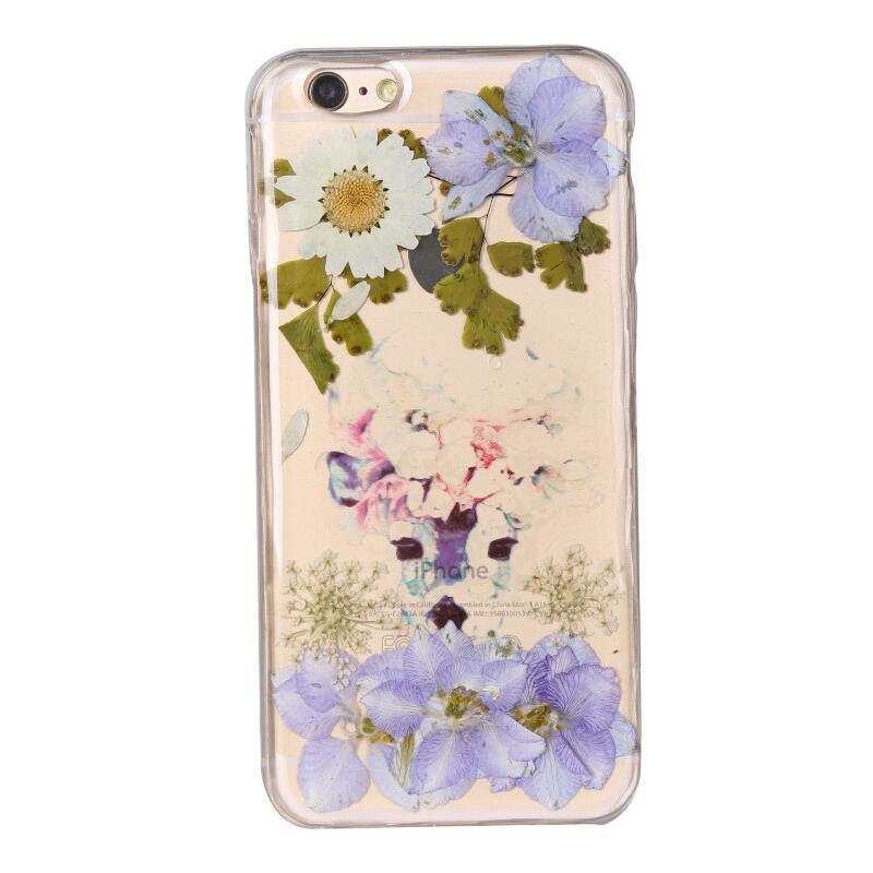 இNueva caja de teléfono de flores secas para iPhone 6 6s crisantemo ...