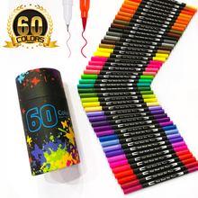 60 цветов маркеры для рисования кончиком двойной кончик художественный