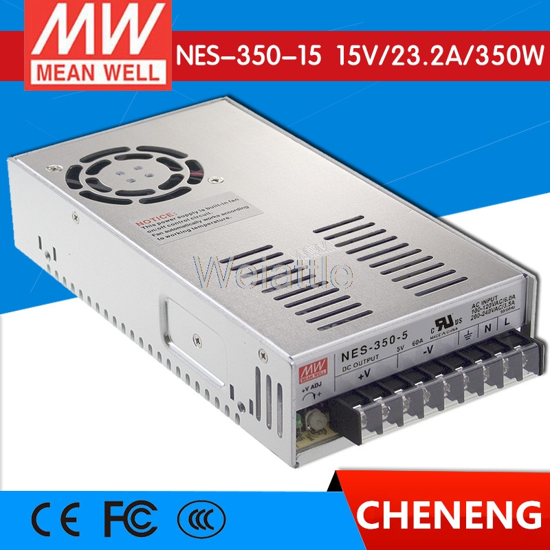MEAN WELL original NES-350-15 15V 23.2A meanwell NES-350 15V 348W Single Output Switching Power Supply [cb]mean well original nes 350 3 3 2pcs 3 3v 60a meanwell nes 350 3 3v 198w single output switching power supply