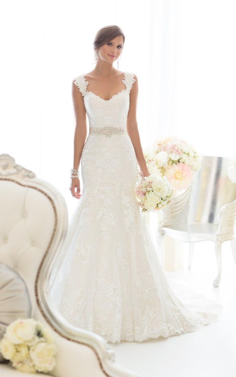 Vestidos de novia con encaje arriba