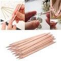 Superior 20 unids art orange palo de madera con removedor de cutícula pusher herramienta de la manicura pedicure de septiembre 23