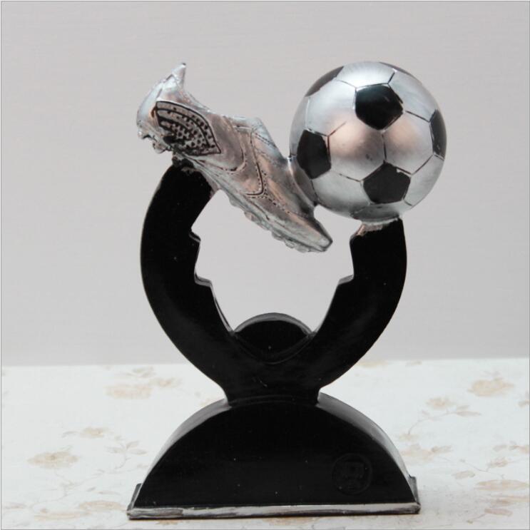 Creatieve zilveren voetbal herdenkingsmunt Resin Decoratie Sport - Huisdecoratie