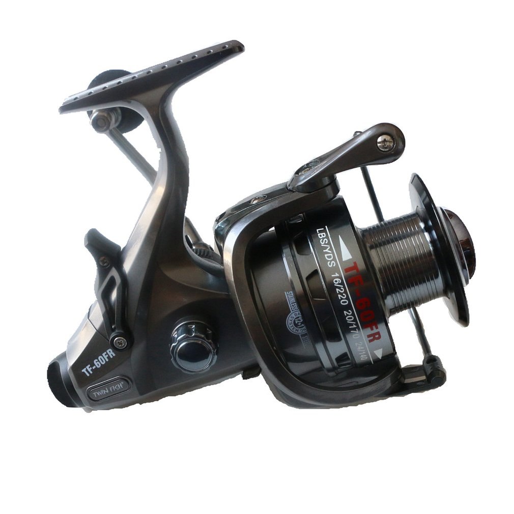RoseWood 2 Speed 6.3:1 4.3:1 Front And Real Dual Braking Spinning Reel 12+1 S.S Bearings Carp Fishing Reels + Spare Spool