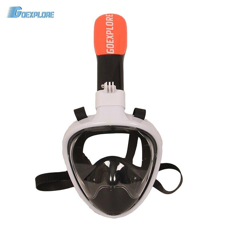 Goexplore Diving Mask Underwater Scuba Anti Fog Full Face Women Men Child Swimming Snorkel Mask Diving Equipment For GoPro scubapro crystal vu mask for scuba snorkelling diving water sports