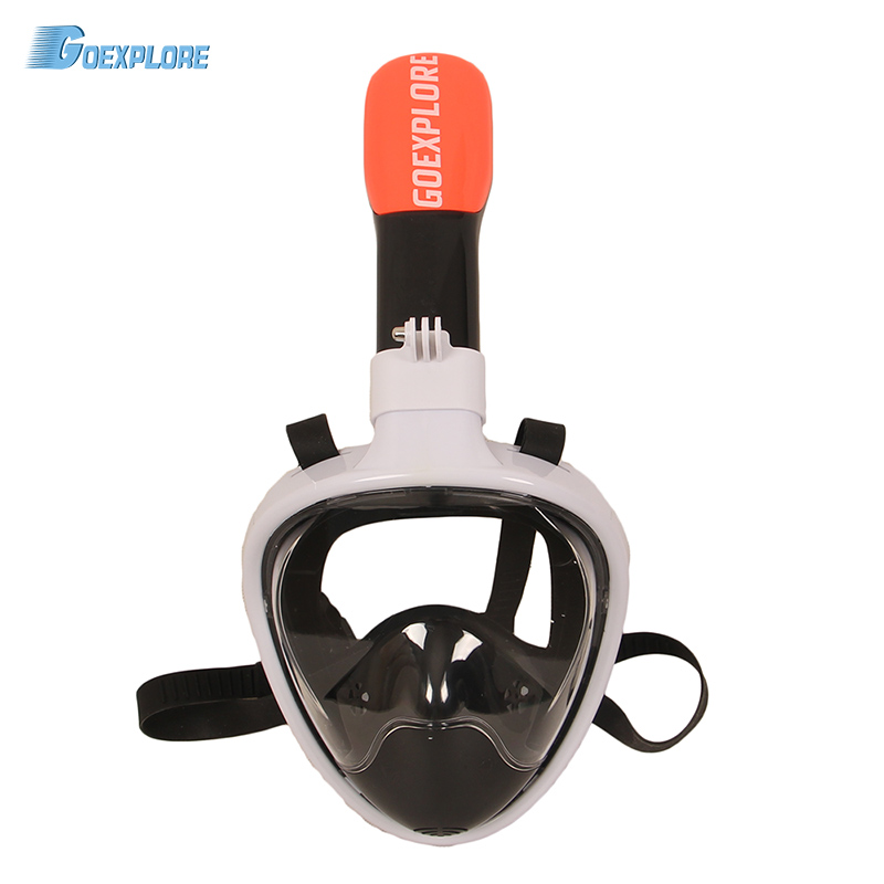 Goexplore Masque de Plongée Sous-Marine Plongée Anti Brouillard Plein Visage Femmes Hommes Enfant De Natation Tuba Masque Équipement de Plongée Pour GoPro