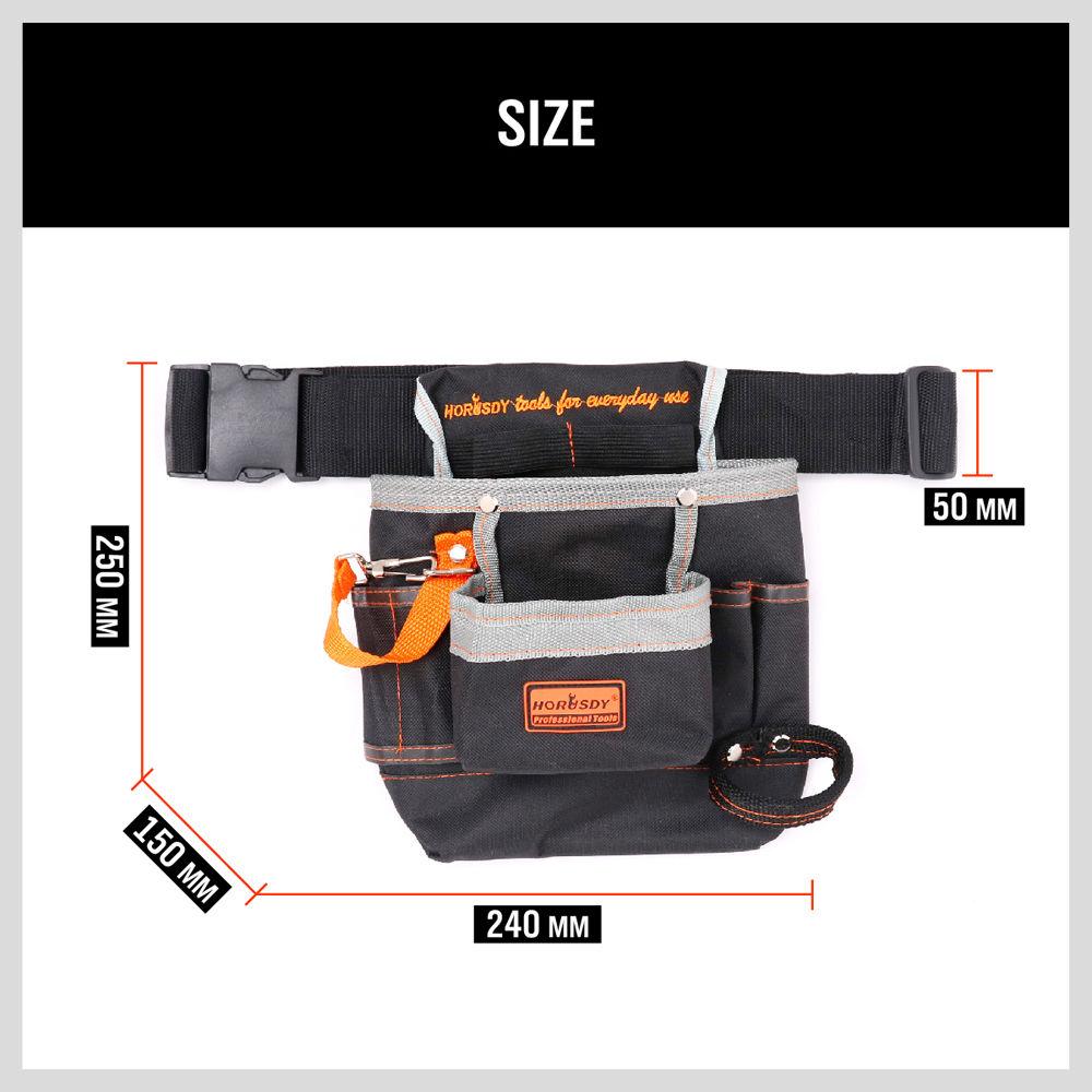 Купить с кэшбэком High Quality Electrician Tool Bags 8 Pockets Oxford Tool Kit Pouch Belt Waist Pocket Tool Belt Pouch Work Belt Tool Bag
