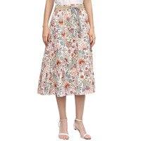 Oursi Hillbilly 2017 Summer New Fashion Dress Bohemia Printing Flax Skirt Long Skirt Leisure A Word
