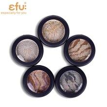 5 Colors Baked Eyeshadow Eye shadow Palette in Shimmer Metallic Eyes Makeup Brand EFU #7052-7056
