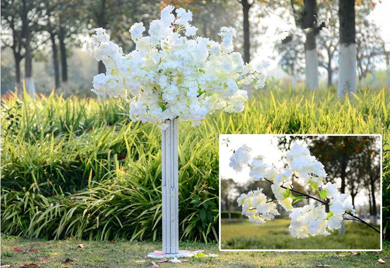 1 meter long artificial simulation cherry blossom flower bouquet 1 meter long artificial simulation cherry blossom flower bouquet wedding arch decoration garland home decor supplies in artificial dried flowers from home junglespirit Image collections