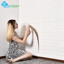 ФОТО 3D White Wall Stickers DIY Self Adhensive Wall papars  Living Room Home Decor Bedroom Kids Room Waterproof Decorative Poster