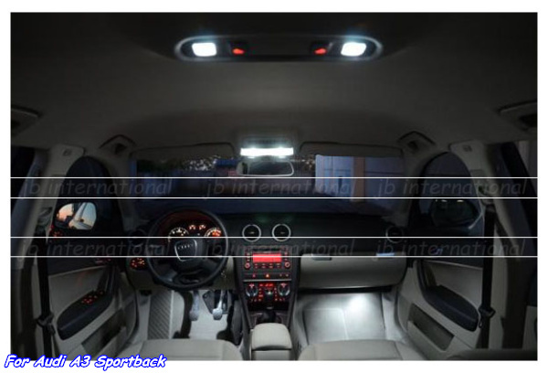 buy car parking interior lights kit for audi a3 8p 8pa sportback led light bar. Black Bedroom Furniture Sets. Home Design Ideas