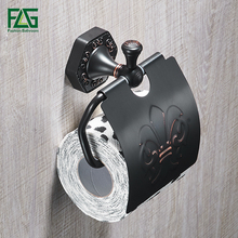 FLG Paper Holders Solid Brass oil Paper Roll Holder Toilet Paper Holder Tissue Holder Restroom Bathroom Accessories цена