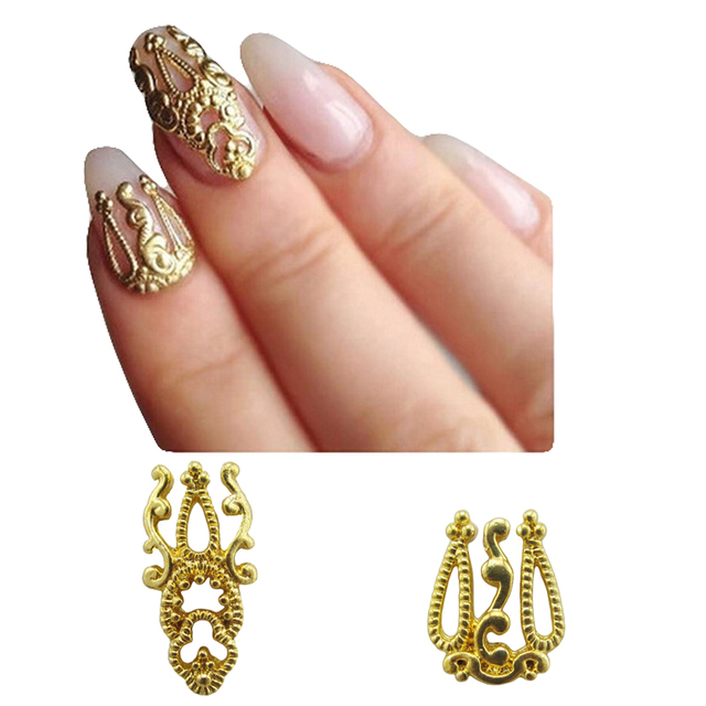 Gold Metal Nail Studs Scarabee Nail Art Decoraties Accessoires