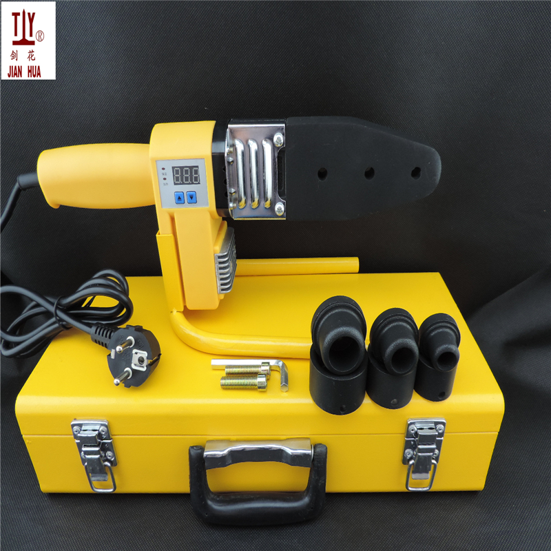 Free shipping 20-32mm 220V digital display device apparatus for welding of ppr pipe pvc welding machine plastic heating elements free shipping plumber tool with 42mm cutter 220v 800wplastic water pipe welder heating ppr welding machine for plastic pipes