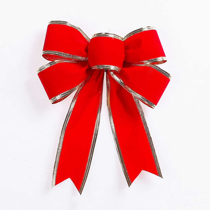 large bow christmas ribbons bow for festival decoration christmas tree bow decoration artificial bows supply 25cm in party diy decorations from home