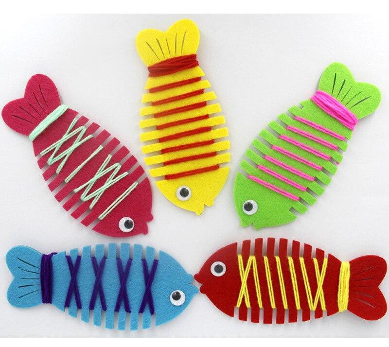 enfants diy handmaking jouets artisanat facile non tiss tissu poissons enfants enfant l. Black Bedroom Furniture Sets. Home Design Ideas