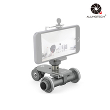 Electric 3 Wheels Pulley Car For Film Video DSLR Camera Camcorder Smartphone