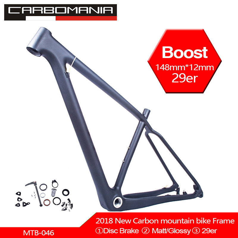 Free Shipping 29er Mountain Bike Frame Carbon Cycling BSA Frameset MTB Bicycle Frame Matt/glossy 27.2mm Frame+headset+clamp 29