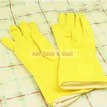 Yellow Hand Saver Safety Rubber Gloves House Household Gloves Hight Quality