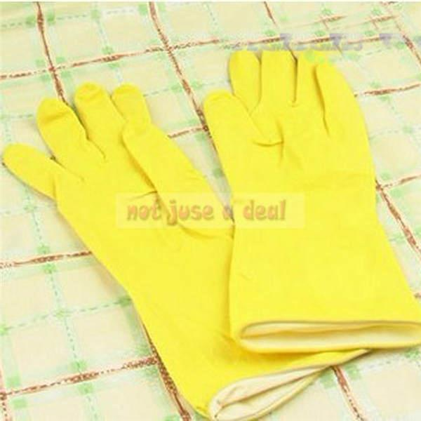 Yellow Hand Saver Safety Rubber font b Gloves b font House font b Household b font