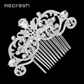 Mecresh Crystal Wedding Hair Accessories for Women Silver/Gold-Color Owl Eye Bridal Hair Comb Jewelry Cute Christmas Gift MFS116