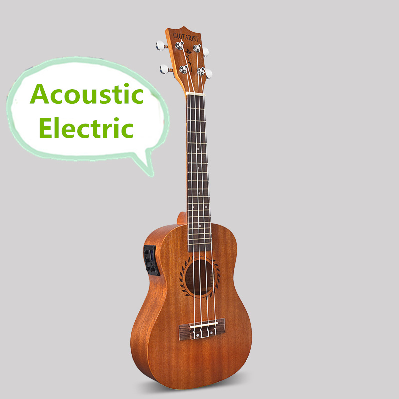 Tenor Acoustic Electric Ukulele 26 Inch Guitar 4 Strings Ukelele Guitarra Handcraft Wood White Guitarist Mahogany Plug-in Uke soprano concert tenor ukulele 21 23 26 inch hawaiian mini guitar 4 strings ukelele guitarra handcraft wood mahogany musical uke