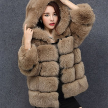 2017 Luxurious 100% Real Fox Fur Coat,Super Fluffy Fashion Best Quality Real Full Pelt Fur Coat,Women's Fur Coat Female Jacket