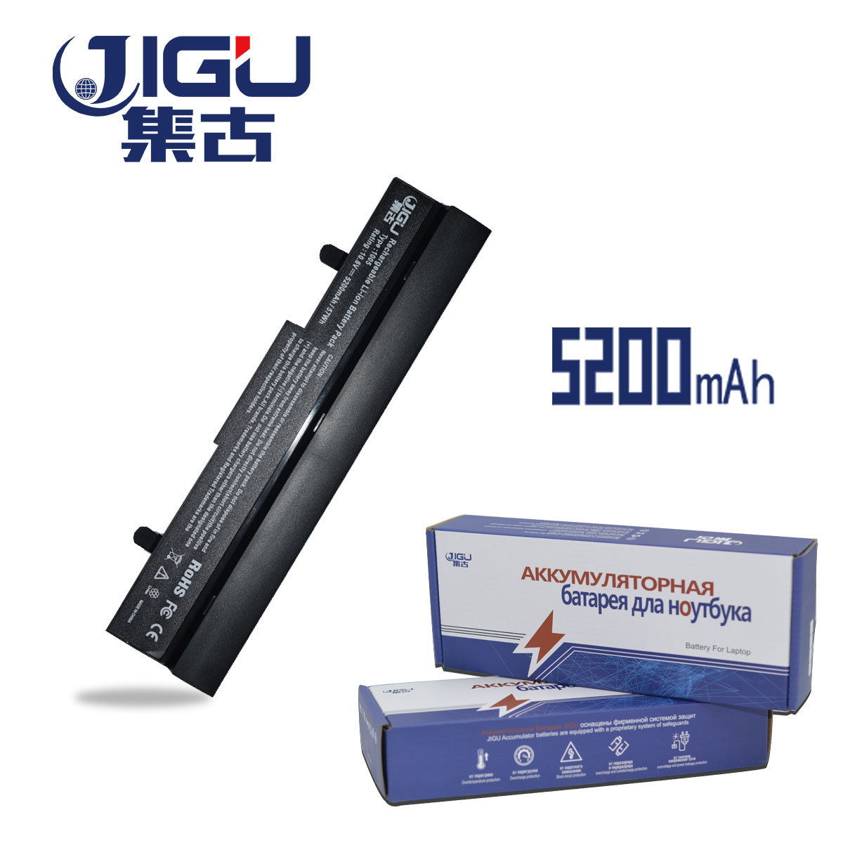 JIGU 5200MAH New Battery For Asus AL31-1005 AL32-1005 ML32-1005 PL32-1005 Eee PC 1001px 1001p 1001 1005 1005PEG 1005PX 1005PR appella 484 1005
