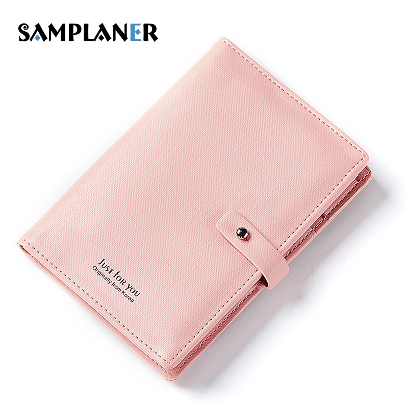 Samplaner Girls Passport Cover Leather Wallet Women Short Clutch Purse Cute Card Bag Female Mini Coin Purse Driving License Bags 2017 hottest women short design gradient color coin purse cute ladies wallet bags pu leather handbags card holder clutch purse