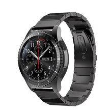 Haute Qualité En Acier Inoxydable Bande de Montre De Courroie En Métal Fermoir Pour Samsung Gear S3 Frontière Bracelets Remplacement Rose/Or/Argent