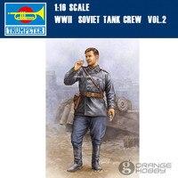Trompetista 00702 1/16 WWII Soviet Tank Crew OHS Vol.2 Asamblea Militar Miniaturas Kits de Edificio Modelo oh